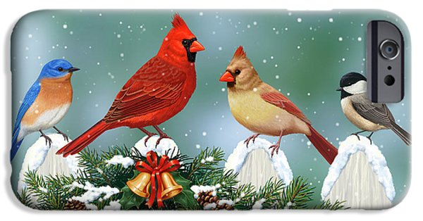 Winter Birds And Christmas Garland IPhone 6s Case