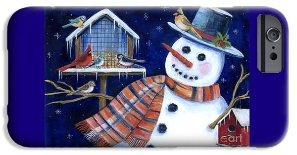 Bluejay iPhone 6s Case - Winter Birds Delight by Marilyn Dunlap