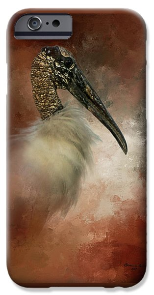 Stork iPhone 6s Case - Wood Portrait  by Marvin Spates
