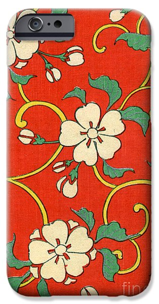 Woodblock Print Of Apple Blossoms IPhone 6s Case by Japanese School