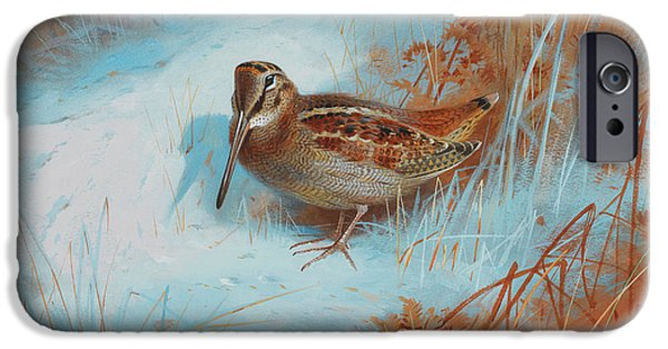 Woodcock iPhone 6s Case - A Woodcock In The Snow by Archibald Thorburn