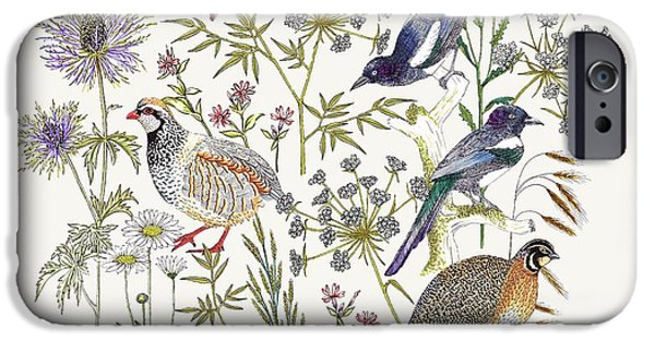 Woodland Edge Birds Placement IPhone 6s Case by Jacqueline Colley