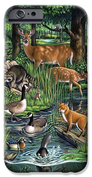Geese iPhone 6s Case - Woodland by Jerry LoFaro