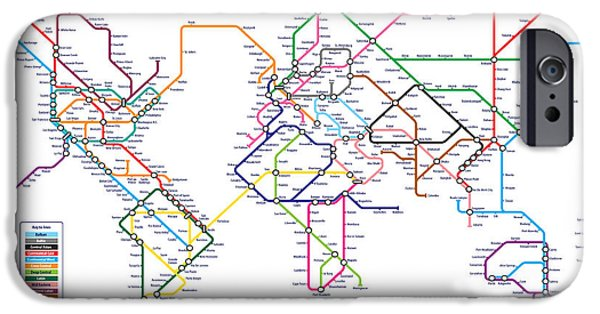 World Metro Tube Subway Map IPhone 6s Case by Michael Tompsett