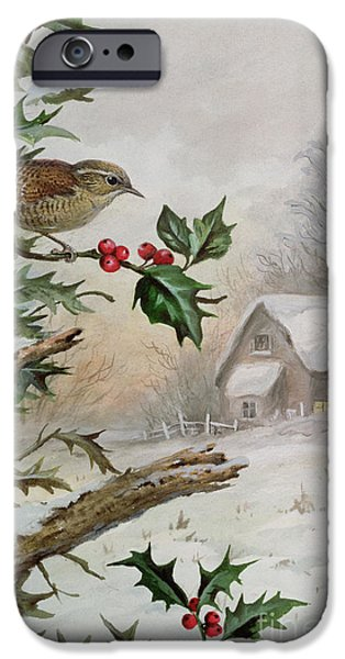 Wren In Hollybush By A Cottage IPhone 6s Case by Carl Donner