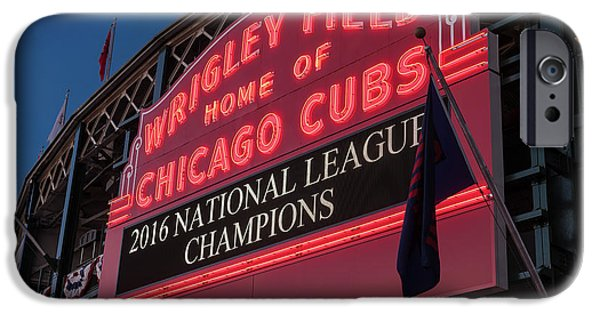 Wrigley Field Marquee Cubs National League Champs 2016 IPhone 6s Case by Steve Gadomski