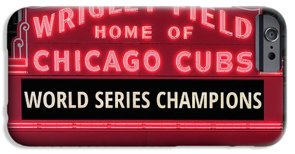 Wrigley Field Marquee Cubs World Series Champs 2016 Front IPhone 6s Case
