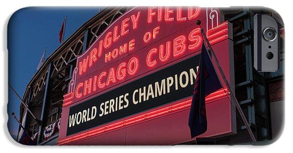 Wrigley Field iPhone 6s Case - Wrigley Field World Series Marquee by Steve Gadomski