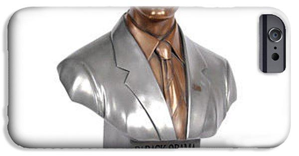 Joe Biden iPhone 6s Case - Obama Bronze Bust by Dothlyn Morris Sterling