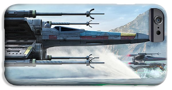 Space Ships iPhone 6s Case - X-wing Full Throttle  by Kurt Miller