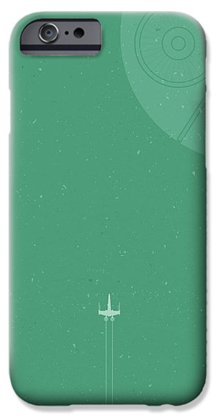 Space Ships iPhone 6s Case - X-wing Meets Death Star by Samuel Whitton