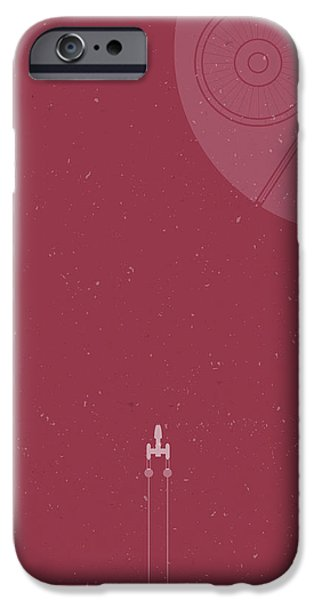 Space Ships iPhone 6s Case - Y-wing Bomber Meets Death Star by Samuel Whitton