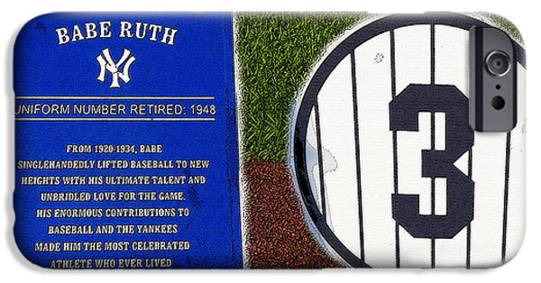 Yankee Legends Number 3 IPhone 6s Case by David Lee Thompson