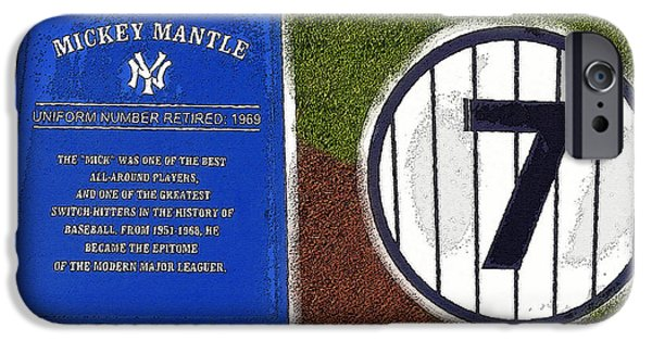 Yankee Legends Number 7 IPhone 6s Case by David Lee Thompson