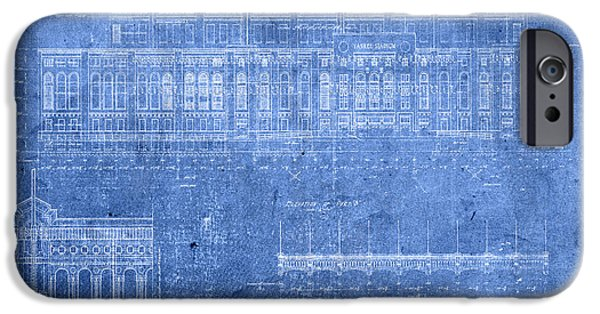 Yankee Stadium New York City Blueprints IPhone 6s Case by Design Turnpike
