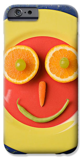 Yellow Plate With Food Face IPhone 6s Case
