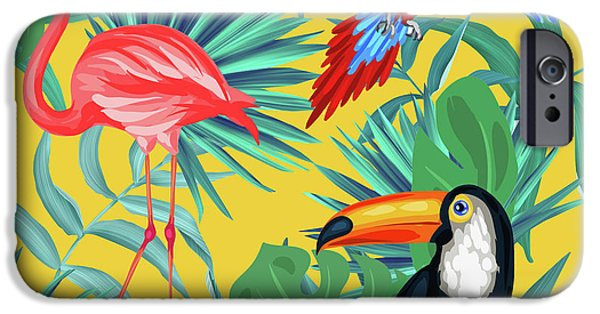 Toucan iPhone 6s Case - Yellow Tropic  by Mark Ashkenazi