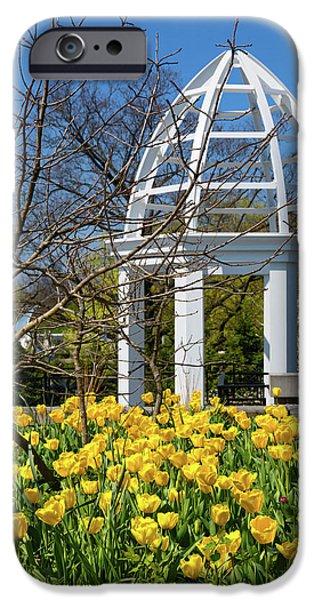 Tulip iPhone 6s Case - Yellow Tulips And Gazebo by Tom Mc Nemar