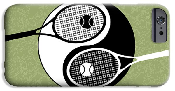 Venus Williams iPhone 6s Case - Yin Yang Tennis by Carlos Vieira