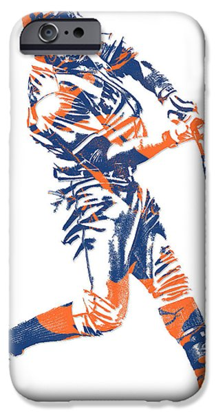 New York Mets iPhone 6s Case - Yoenis Cespedes New York Mets Pixel Art 1 by Joe Hamilton