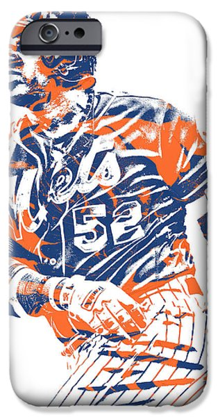 New York Mets iPhone 6s Case - Yoenis Cespedes New York Mets Pixel Art 10 by Joe Hamilton