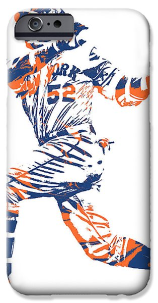 New York Mets iPhone 6s Case - Yoenis Cespedes New York Mets Pixel Art 11 by Joe Hamilton