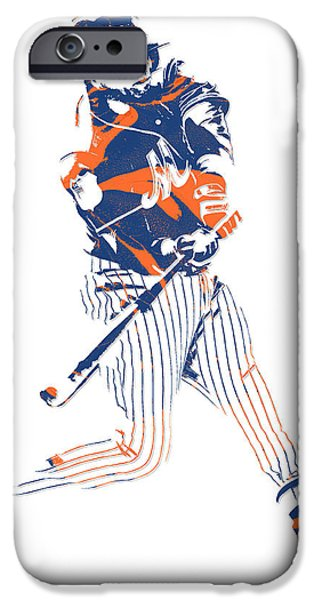New York Mets iPhone 6s Case - Yoenis Cespedes New York Mets Pixel Art 2 by Joe Hamilton