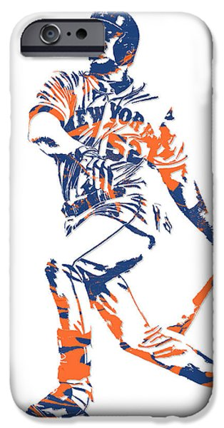 New York Mets iPhone 6s Case - Yoenis Cespedes New York Mets Pixel Art 4 by Joe Hamilton