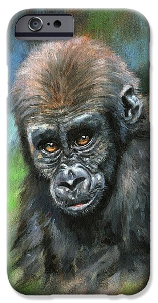 Young Gorilla IPhone 6s Case by David Stribbling