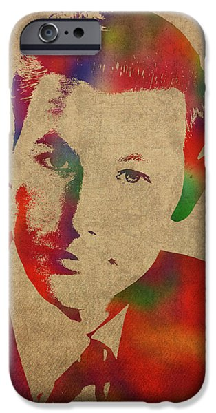 Young Johnny Carson Watercolor Portrait IPhone 6s Case