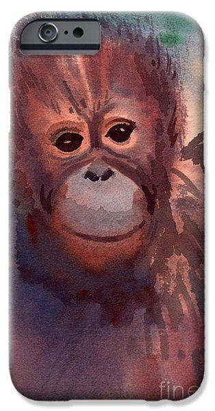 Young Orangutan IPhone 6s Case by Donald Maier