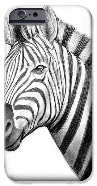 Pencil iPhone 6s Case - Zebra by Greg Joens