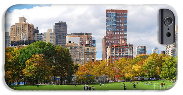 Office Buildings iPhone 6s Case - New York City Manhattan Skyline by Songquan Deng