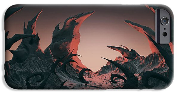 Space iPhone 6s Case - 3d Rendering Of Horror Landscape. Dry by Bug fish