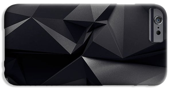 Space iPhone 6s Case - Abstract Graphite Crystal Background by Wacomka
