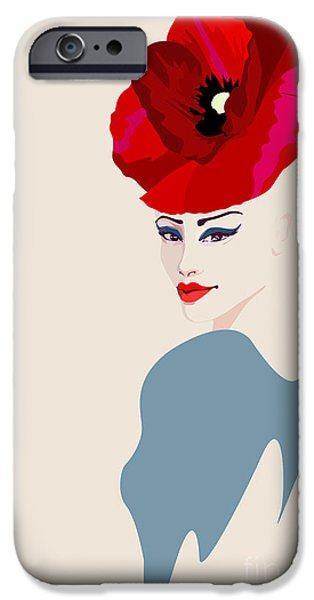 Perfume iPhone 6s Case - Abstract Watercolor Portrait Of Women by Viktoriya Pa