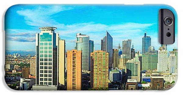 Office Buildings iPhone 6s Case - Aerial View On Makati City - Modern by Joyfull