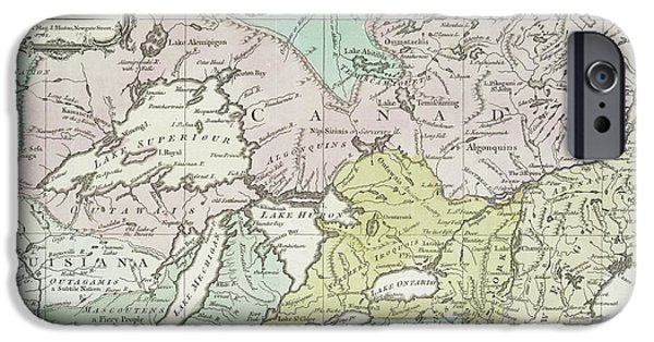 New England Coast iPhone 6s Case - An Accurate Map Of Canada, With The Adjacent Countries, 1761  by Richard William Seale