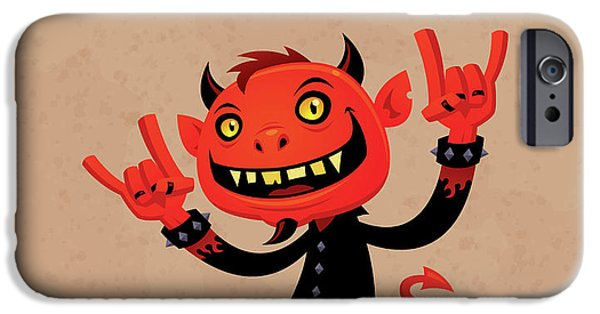 Music iPhone 6s Case - Heavy Metal Devil by John Schwegel