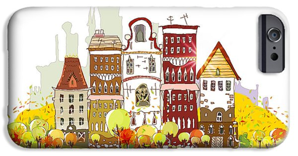 Office Buildings iPhone 6s Case - Autumn In The City by Ir Stone