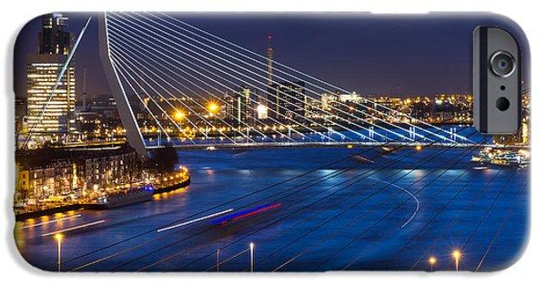 Office Buildings iPhone 6s Case - Beautiful Twilight View On The Bridges by Dennis Van De Water