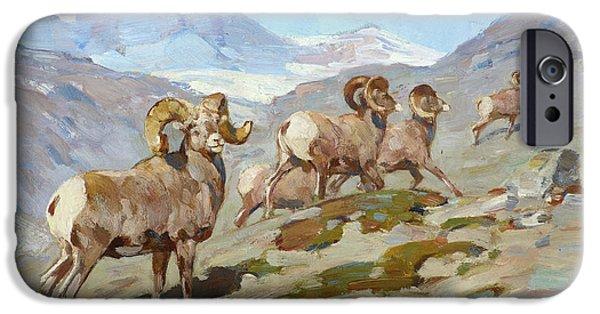 Rocky Mountain Bighorn Sheep iPhone 6s Case - Bighorn Sheep, Nigel Pass, Alberta, 1919 by Carl Rungius