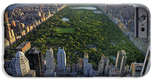 Office Buildings iPhone 6s Case - Central Park Aerial View, Manhattan by T Photography