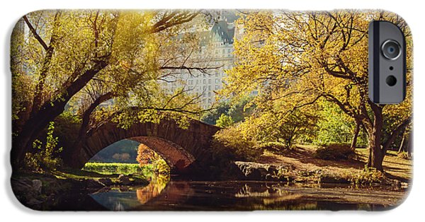 New Leaf iPhone 6s Case - Central Park Pond And Bridge. New York by Maglara