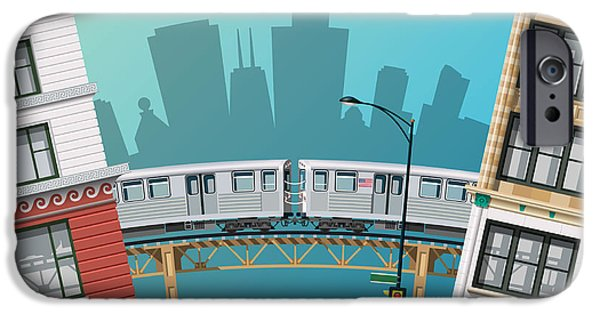 Office Buildings iPhone 6s Case - Chicago Traffic by Nikola Knezevic