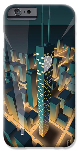 Office Buildings iPhone 6s Case - City At Night by Nikola Knezevic