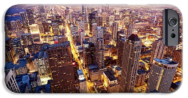Office Buildings iPhone 6s Case - City Of Chicago. Aerial View  Of by Andrey Bayda