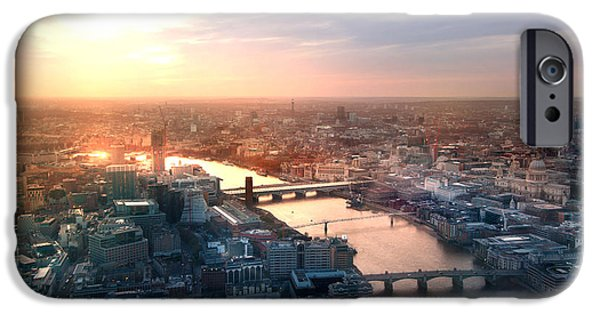 Office Buildings iPhone 6s Case - City Of London Panorama In Sunset by Ir Stone
