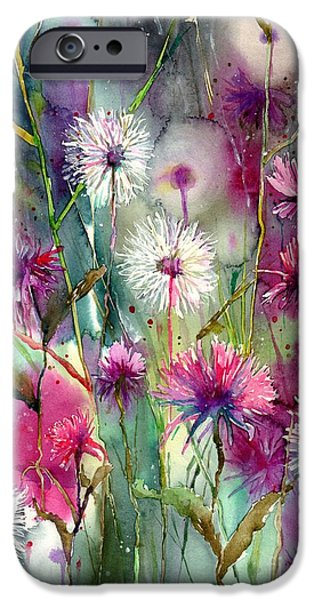 Perfume iPhone 6s Case - Disco Thistles by Suzann Sines