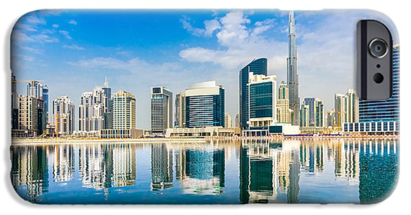 Office Buildings iPhone 6s Case - Dubai Skyline, Uae by Luciano Mortula - Lgm